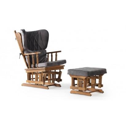 Κουνιστή πολυθρόνα Vintage με υποπόδιο