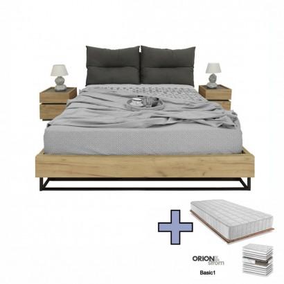 Διπλό κρεβάτι Pavia Pillow με στρώμα