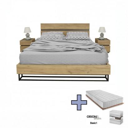Κρεβάτι διπλό Pavia με στρώμα