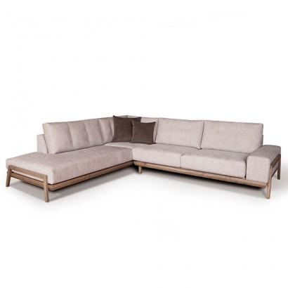 Γωνιακός καναπές Cream